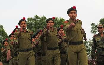 disicipline parade in top 10 boarding school in jhunjhunu rajasthan