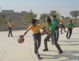 playing basket ball in top 10 boarding school in jhunjhunu rajasthan
