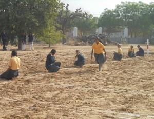 enjoying game kho-kho in top 10 boarding school in jhunjhunu rajasthan